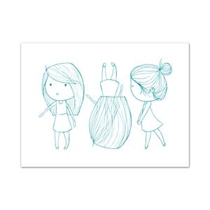 Nueva sensación de pantalla 7 X 5 pantalla Girl Friends Colección recubierto de azúcar BNIP