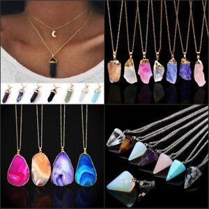 Wholesale-Irregular-Jewelry-Natural-Crystal-Quartz-Stone-Gemstone-Charm-Necklace