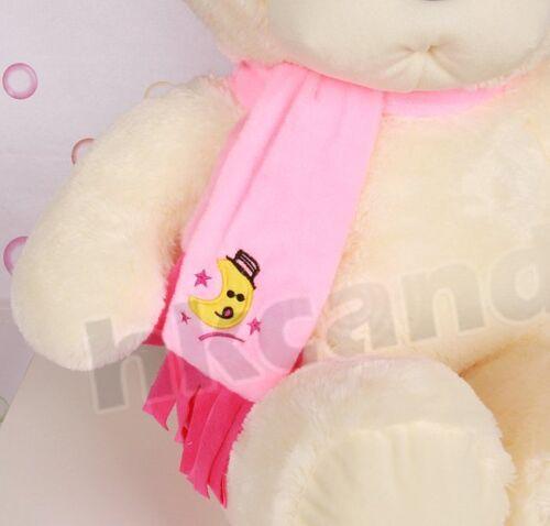 Cute plush bear pink embroidered moon scarf teddy bear 30 CM stuffed toy soft