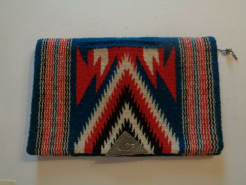 Vintage Chimayo Wool Clutch Zippered Purse