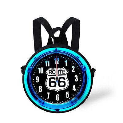 Cute Round Clock Watch Pattern Bag Women Handbags Purses Kids Sling Bag,Backpack