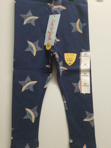 Cat /& Jack™ Size  2T Navy Rainbow New Toddler Girls/' Leggings