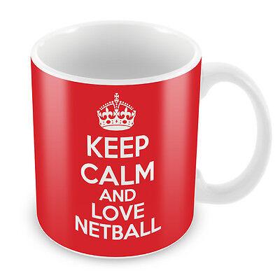 KEEP CALM And Love Netball Mug Coffee Cup Gift Idea present sports