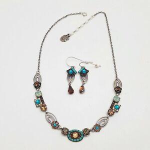 Dikla-Meri-Designer-Necklace-Swarovski-Crystals-Necklace-amp-Earrings-Set