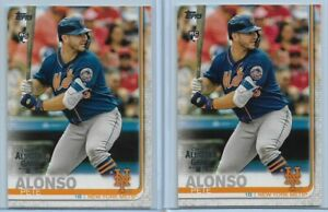 2019-Topps-All-Star-Factory-Set-Pete-Alonso-2-Card-Rookie-Lot-Mets-475-RC