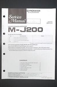 O10 Angemessen Pioneer M-j200 Original Service-manual/anleitung/schaltplan Tv, Video & Audio