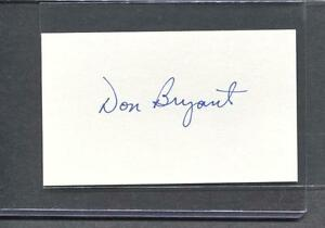 Don-Bryant-signed-3X5-Index-Card-Cubs-1966-Debut-Flat-Rate-Ship