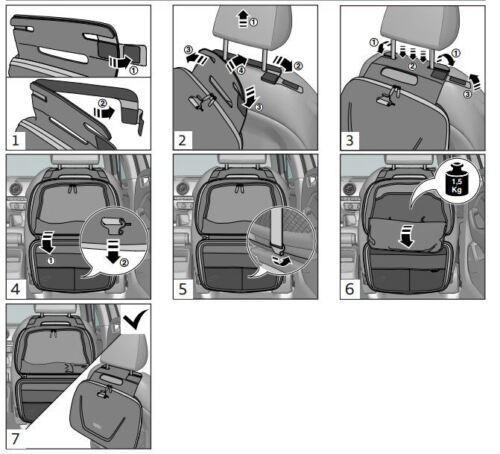 Audi Rückenlehnentasche Audi Lehnentasche für Rücksitz Audi Tasche