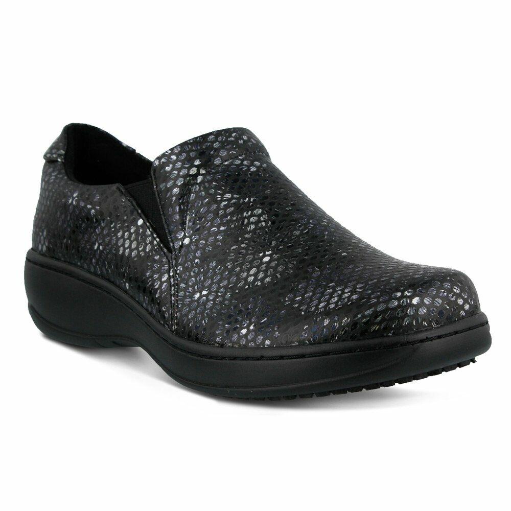 Spring Step Professional Women's Women's Women's Belo Work shoes, Black Floral Snak e502bb
