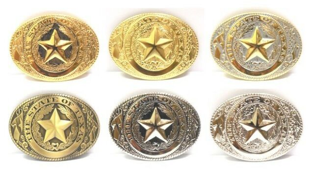 State of Texas Seal Lone Star State Logo Western Rodeo Belt Buckle
