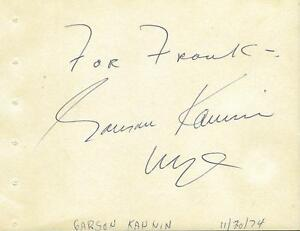 Garson-Kanin-Signed-Vintage-Album-Page