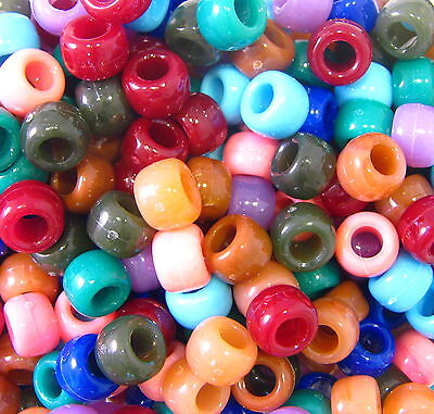 900-Piece The Beadery 6 by 9mm Barrel Pony Bead in Chocolate