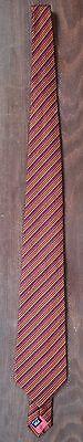 Alexandre – Purple And Orange Diagonal Stripe Silk Tie