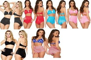Pin-Up-High-Waist-Bikini-Bottom-Shorts-in-Multi-Colors-Matching-Top-Separately