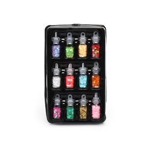 12-Nail-Art-Glitter-Flakes-Sequin-Caviar-UV-Gel-Decor-Dust-Tips-Bottles-NS-NSMFS