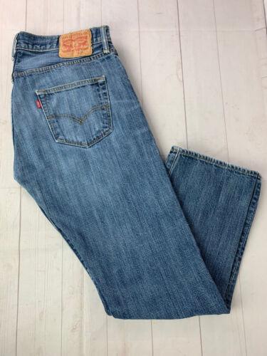 Jeans LEVIS 501 Label Size 34x32 Distressed Blue … - image 1