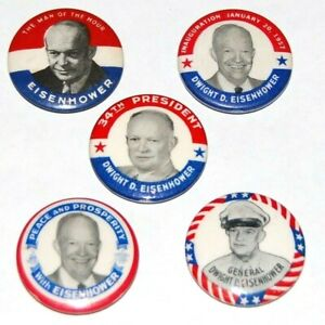 1952 DWIGHT EISENHOWER campaign pin pinback button presidential election lot