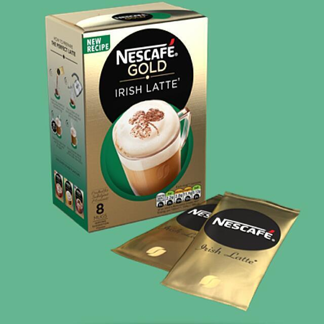 NESCAFÉ Gold Latte Irish Cream 8 Sachets X 22g High