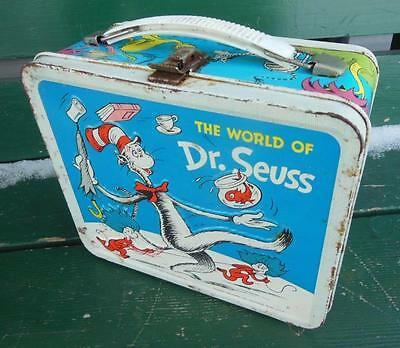 1970 WORLD OF DR. SEUSS CAT IN HAT HORTON METAL ALADDIN LUNCHBOX