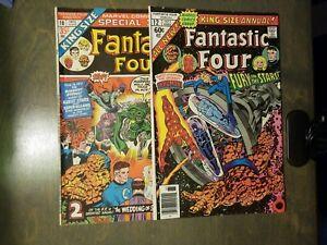 Fantastic-Four-2-Book-lot-King-Size-Annual-10-VF-FINE-12-VF-Marvel-Comics