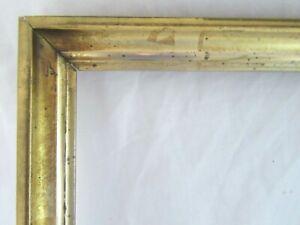ANTIQUE-FITS-8-X-10-034-Lemon-GOLD-GILT-PICTURE-FRAME-WOOD-FINE-ART-COUNTRY-1900
