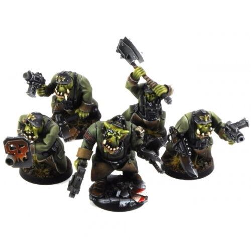 Ork War2 Orc Assault Greatcoat Squad (10)