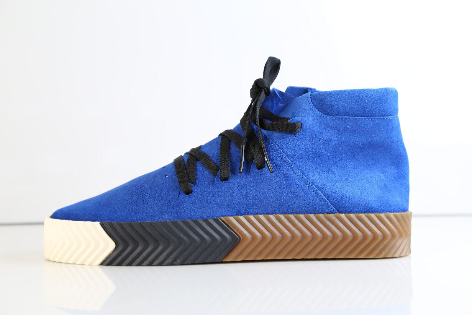 Adidas Alexander Wang AW Skate Mid Bluebird Gum AC6849 8-12.5 blue suede