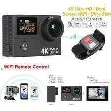 "2"" Dual Screen LCD Ultra HD Wifi Sports Action Camera 4K 15fps 12MP DVR FPV K6P1"
