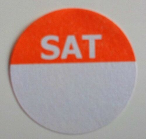 Day Dot Food Hygiene Saturday 1 Pack of 1,000 labels Prioritisation Labels