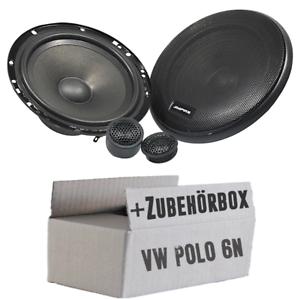 Ampire Lautsprecher für VW Polo 6N - 16cm PKW Lautsprecher - Einbauset - Auro
