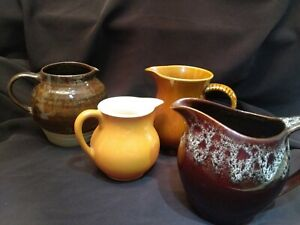 Vintage-Pottery-4xJug-Pitcher