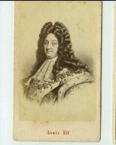 Vintage-CDV-Louis-XIV-of-France-King-of-France-by-E-Neurdein