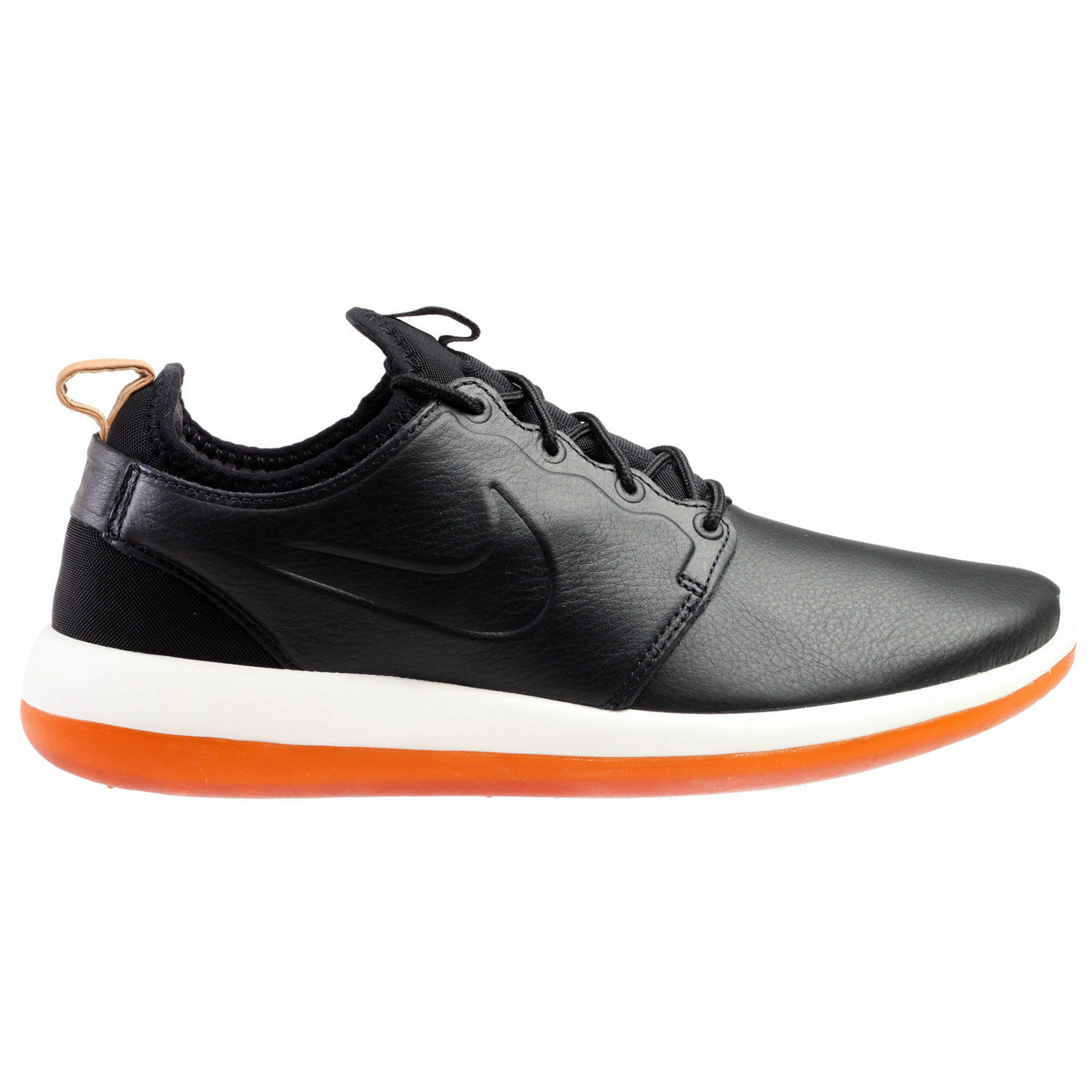 Nike Roshe Two Leather Premium Mens Size 7 shoes Black White Gum 881987-001 NEW