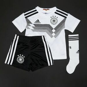 adidas-Germany-Home-Mini-Kit-White-BR7836-Toddler-Jersey-Shorts-Socks-NEW