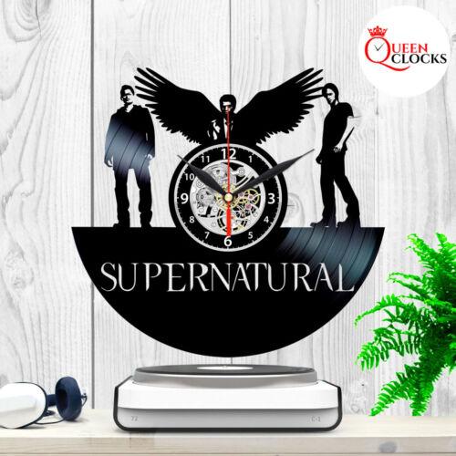 Supernatural Dean Castiel Sam Vinyl Record Wall Clock Fan Decor Best Gift Art