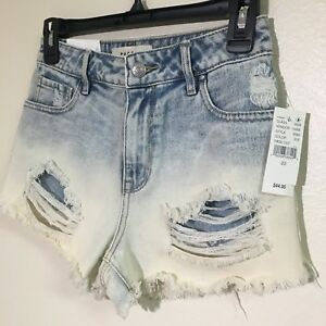Cute Pacsun Sz 23 Ombre Washed Blue Denim Distressed High Waisted ... 6b9cde11e8