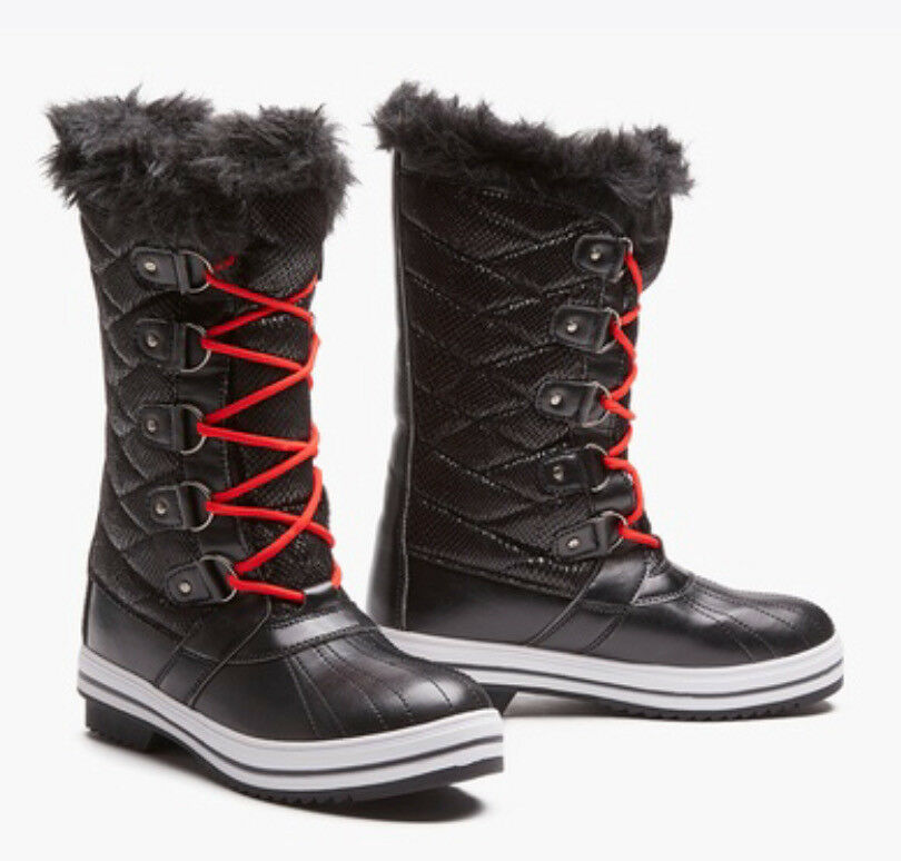 Sociology Women's Swell Weather Boots W  Extra Laces Black Sz 6, 7 or 11 NEW