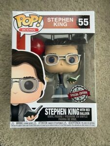 Stephen-King-with-Red-Balloon-Funko-Pop-Vinyl-New-in-Box