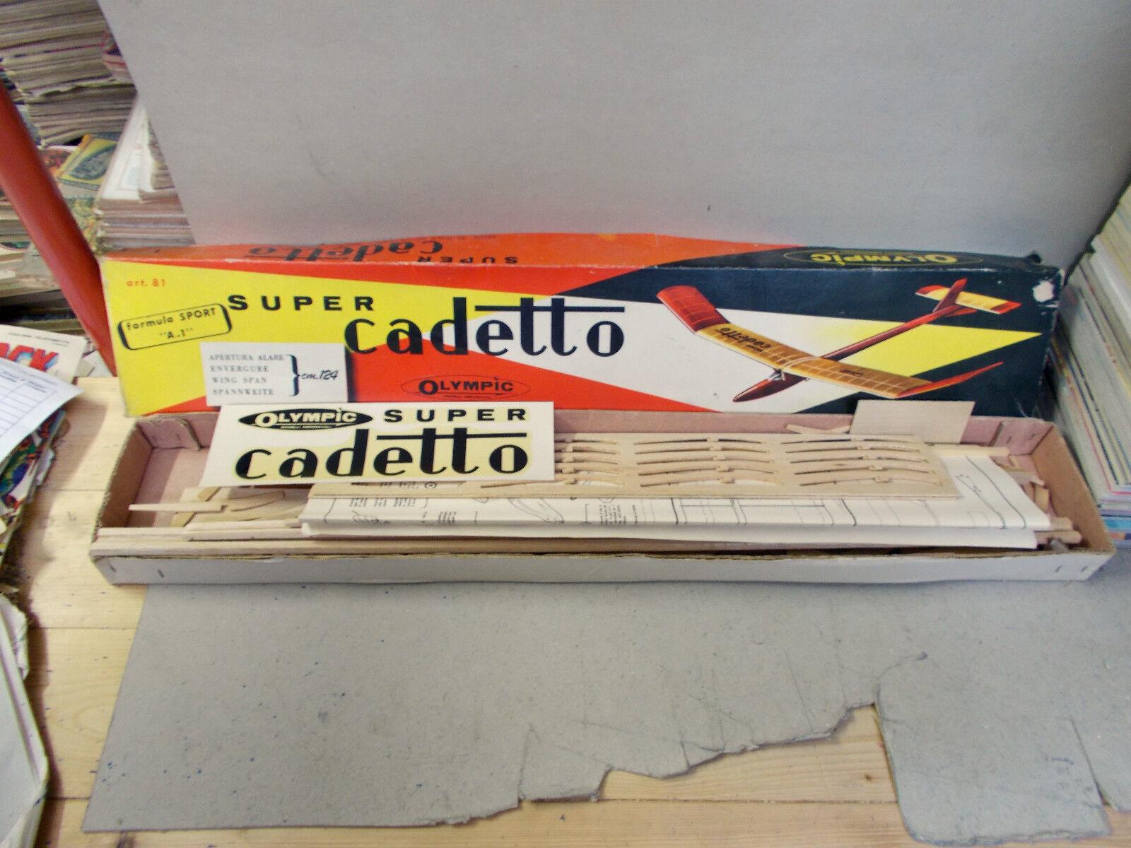 SUPER CADETTO  modellololololi aeronavali OLYMPIC ART.81 ANNI 60 AEREO DA COSTRUIRE OTTIM  negozio online