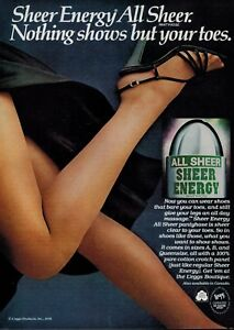 Magazine pantyhose ads something