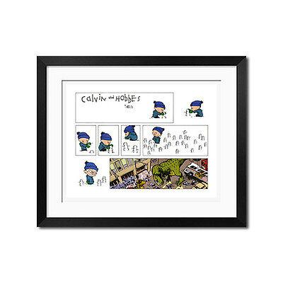 Calvin and Hobbes Big Bad Dinosaur Poster Print