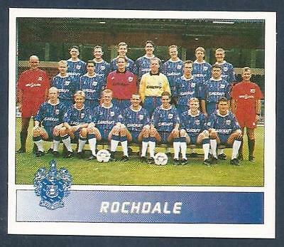 PANINI FOOTBALL LEAGUE 1996- #464-ROCHDALE TEAM PHOTO