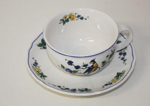Untertasse Villeroy /& Boch V/&B Phoenix blau Teetasse Kaffeetasse bauchige Form