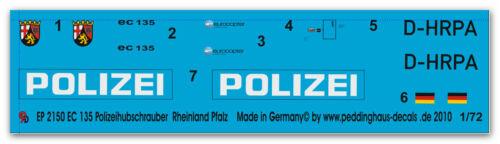 Peddinghaus 2150 1/72 EC 135 Polizeihubschrauber Rheinland-Pfalz D-HRPA