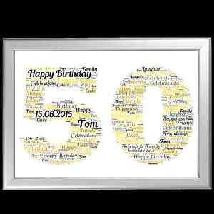 Image Is Loading PERSONALISED BIRTHDAY GIFT 50 50th FIFTY MILESTONE KEEPSAKE