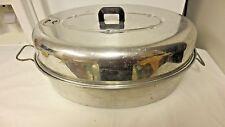 Vintage Wearever Aluminum Oval Roaster Pan w/Lid & Lift Rack #2635