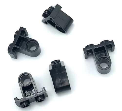 Lego Lot of 5 New Black Technic Pin Connector Plates with One Hole Parts