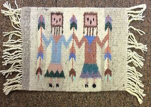 Zapotec Yei Corn Weaving Handwoven Rug Wall Hanging Decor