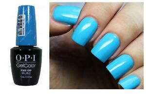 Image Is Loading Opi Gelcolor Fearlessly Alice Bright Cerulean Blue Uv