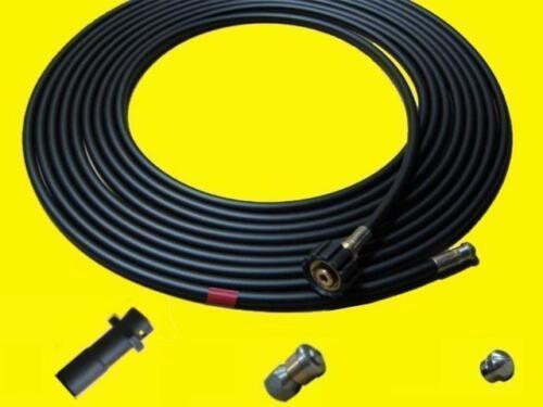 20m Rohrreinigungsschlauch SET Rohrreinigungsset für Kärcher+Bohrdüse+Rotordüse